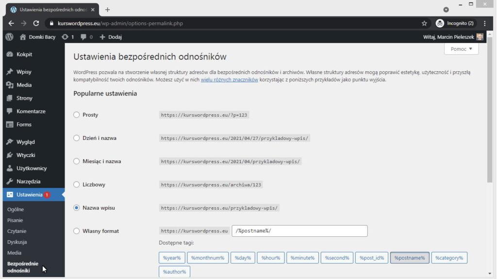 Różne sposoby definiowania adresu URL