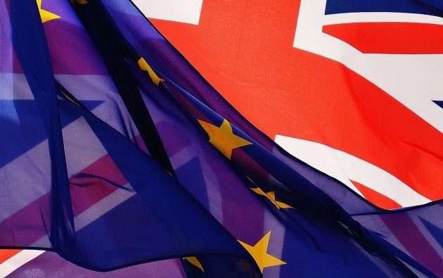 flaga unii europejskiej i wielkiej brytanii