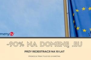 Zniżka na domenę .eu