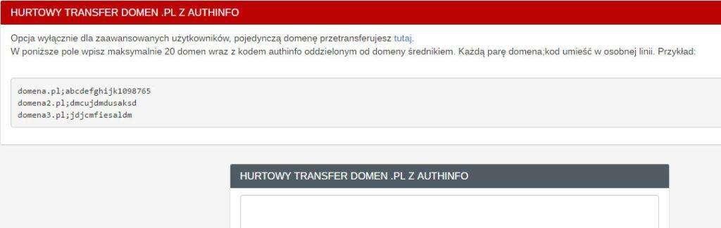 Hurtowy transfer domen .pl