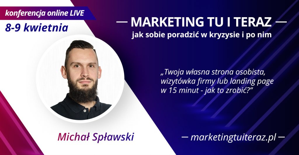 "Szef i założyciel domeny.tv prelegentem ""Marketing tu i teraz"""