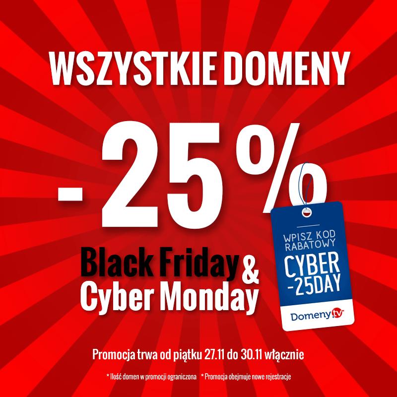 Black Friday, Cyber Monday promocje