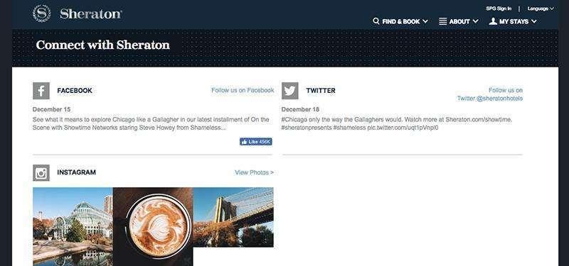 Nowe domeny w kampanii marketingowej - sheraton social